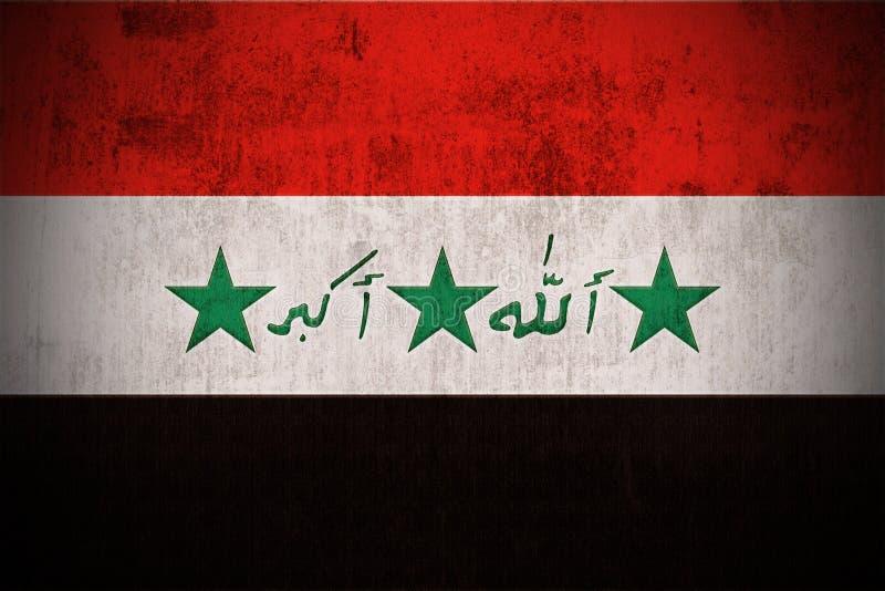 Grunge Markierungsfahne vom Irak stock abbildung