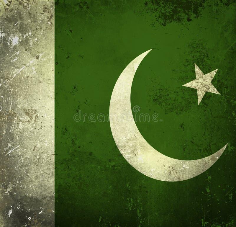 Grunge Markierungsfahne von Pakistan stockbild