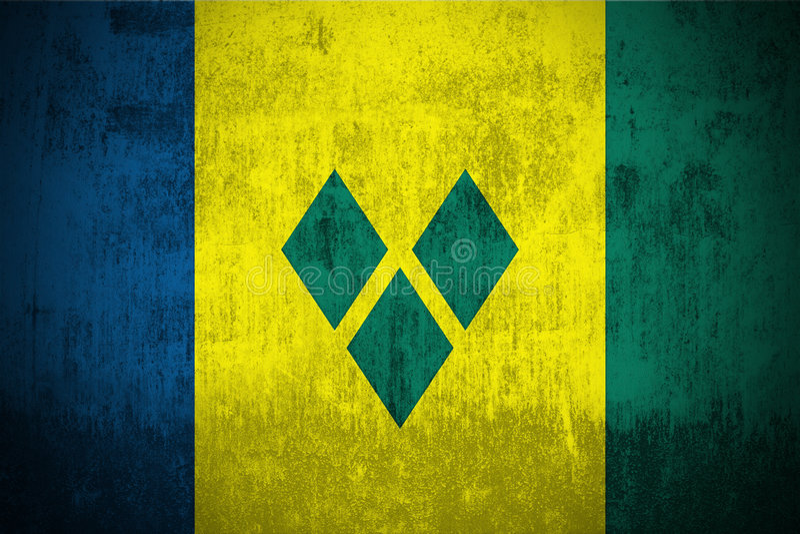 Grunge Markierungsfahne von Saint Vincent And The Grenadines lizenzfreie abbildung