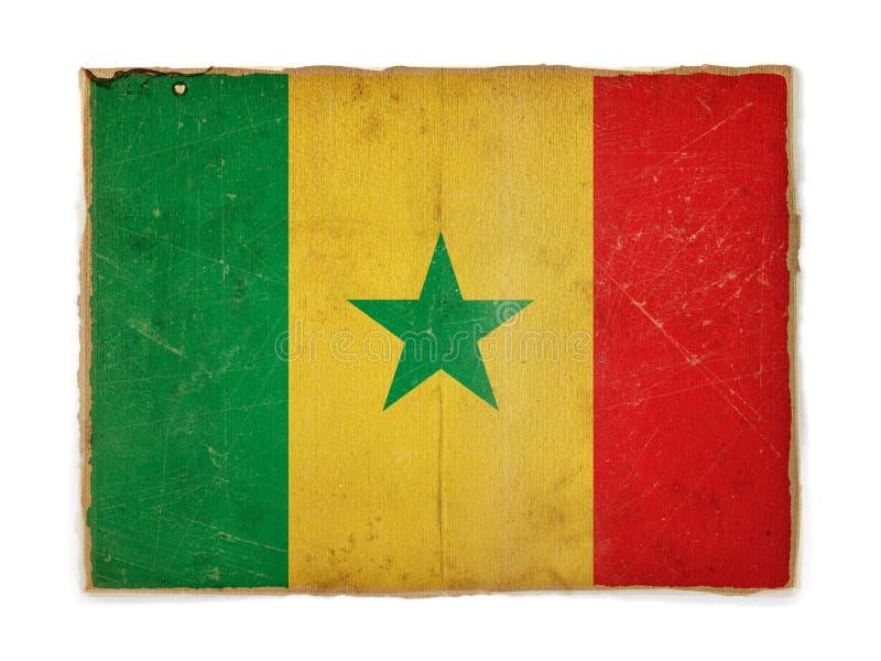 Grunge Markierungsfahne von Senegal lizenzfreie stockfotografie