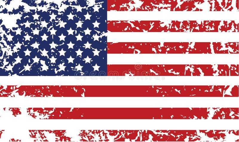 Grunge Markierungsfahne von Vereinigten Staaten lizenzfreie abbildung