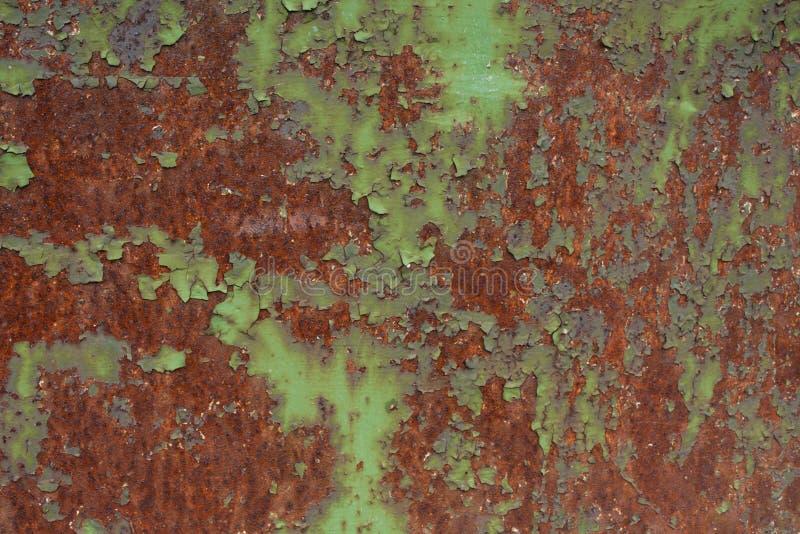 Grunge maserte Hintergrund Alte verrostete Metallplatte stockbild