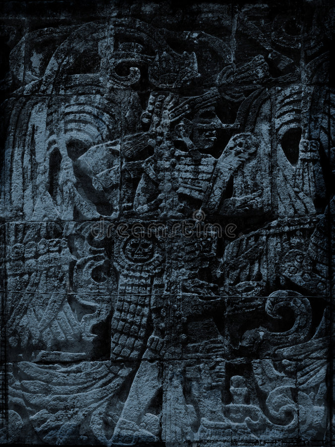 Grunge maya illustration stock