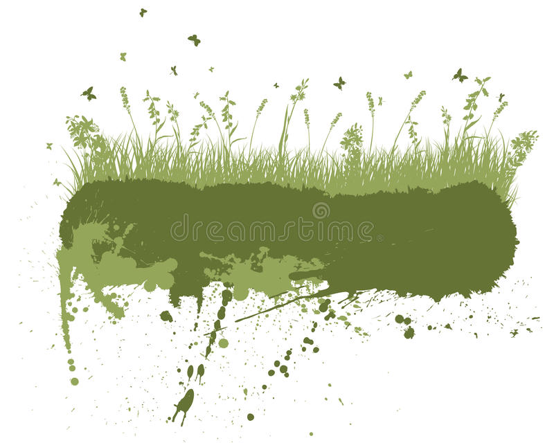 Grunge meadow silhouettes. Vector grunge grass silhouettes background. All objects are separated stock illustration