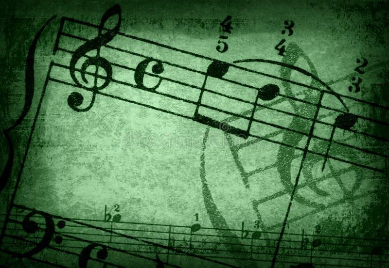 Grunge Melodienbeschaffenheiten und -hintergründe stock abbildung