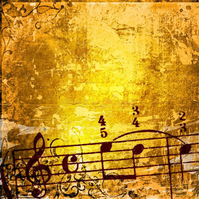 Grunge Melodienbeschaffenheiten und -hintergründe lizenzfreie abbildung