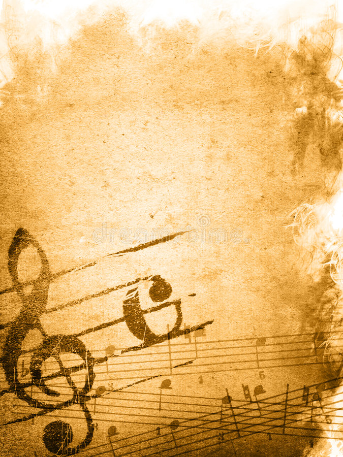 Grunge Melody Textures And Backgrounds Royalty Free Stock Photography