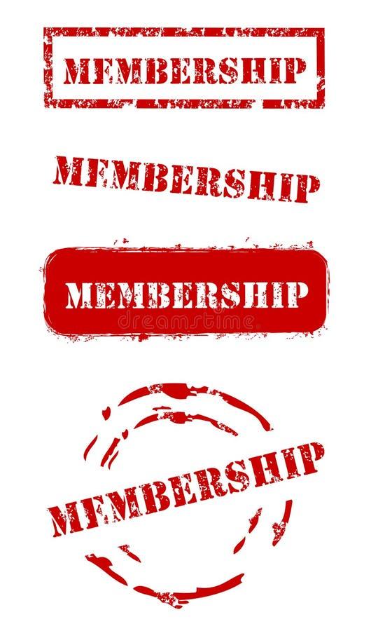Grunge Membership Stamps vector illustration