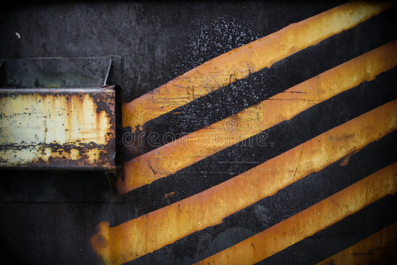 Grunge Metal. With bright orange stripes royalty free stock photos