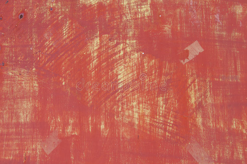 Grunge metal. Background. Abstract texture on an old red metal door royalty free stock photos