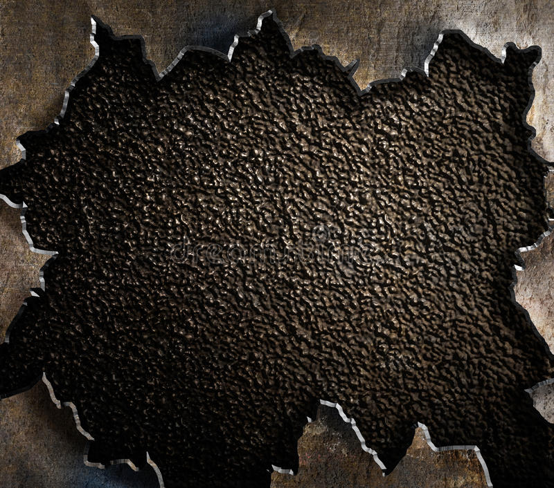 Grunge metal background with torn edges. Old rusty grunge metal background royalty free stock photos