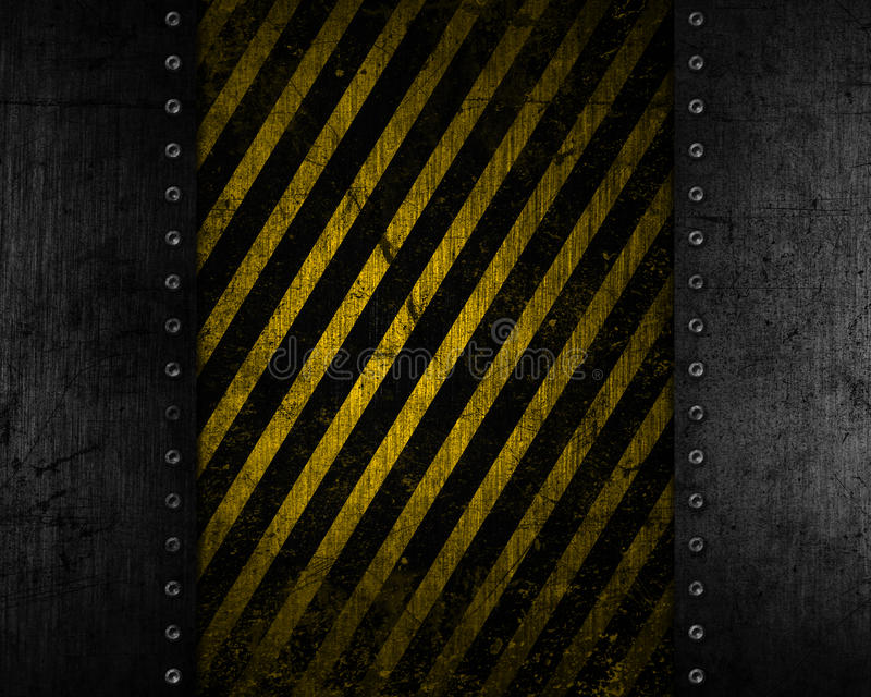 Grunge metal background with yellow and black distressed texture royalty free illustration