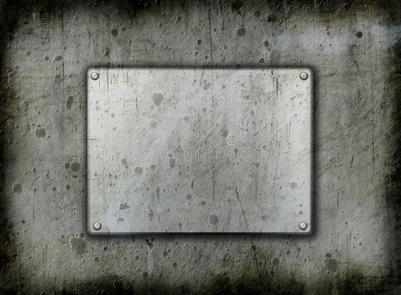 Grunge metal backgrounddd. Dirty metal background with a grunge effect royalty free stock photos