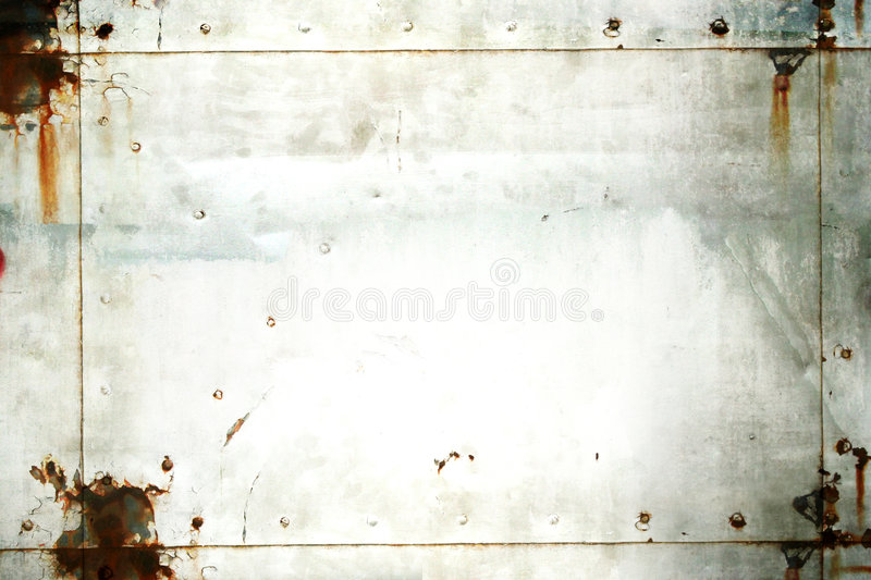 Grunge Metal frame. Background. Suitable for use as a photo background or grunge texture. Smudges and rust texture are visible stock photography