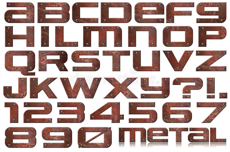 Download Grunge Metal Letters And Numbers Stock Illustration - Image: 26905897