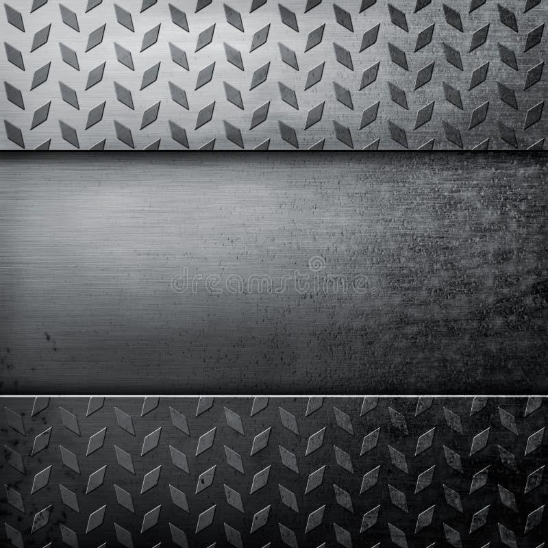 Grunge metallbakgrund vektor illustrationer
