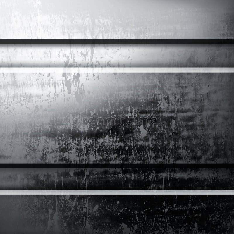 Grunge metallbakgrund stock illustrationer
