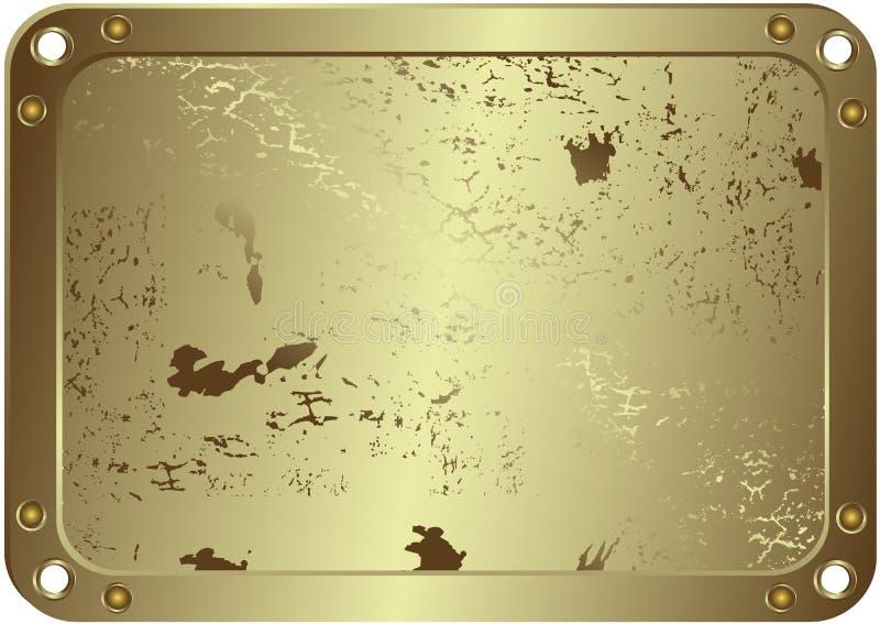 Grunge metallic silvery frame (vector). Grunge metallic silvery frame with round apertures on edges vector illustration