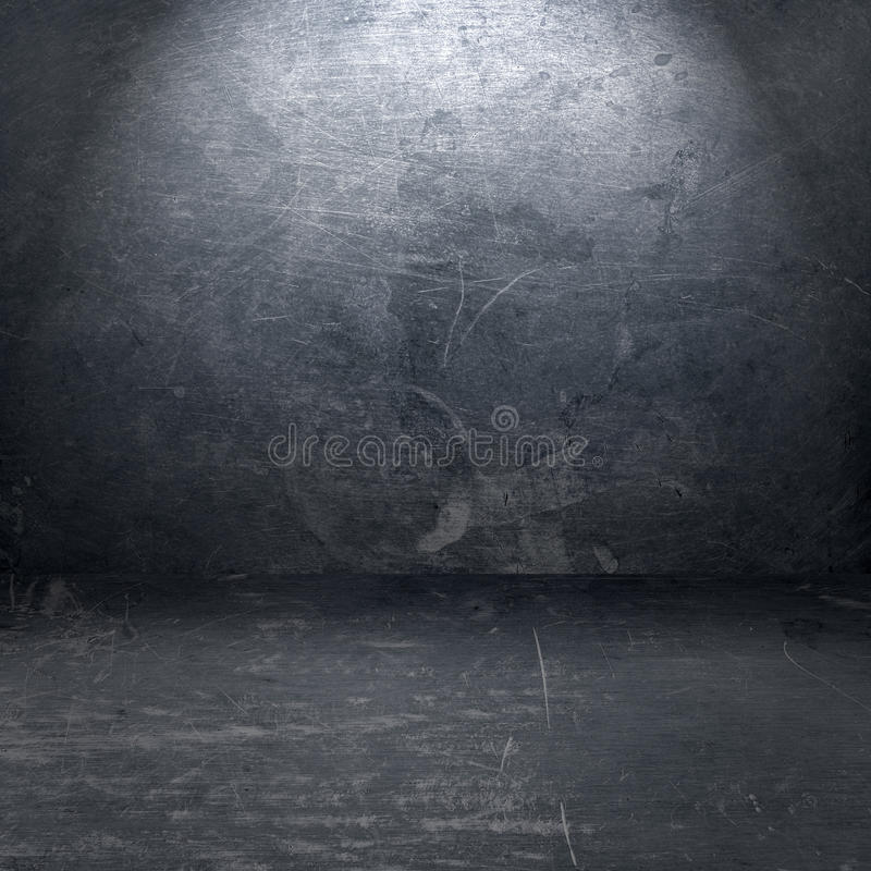 Grunge metallinterior vektor illustrationer