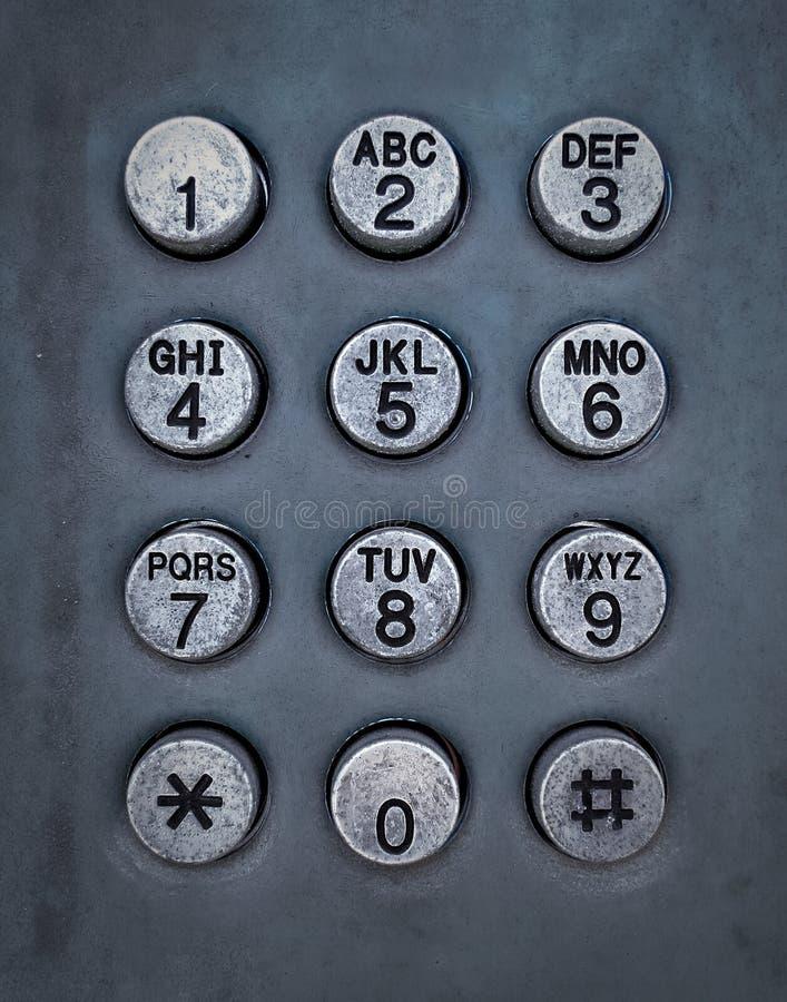 Grunge Metalltastentelefon lizenzfreies stockfoto