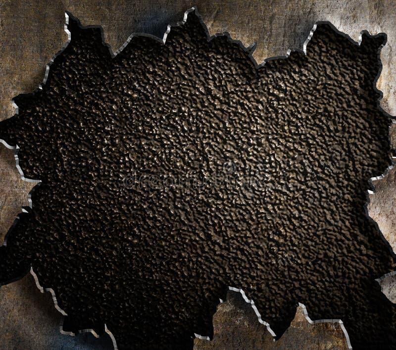 Grunge metalu tło z poszarpanymi krawędziami zdjęcia royalty free