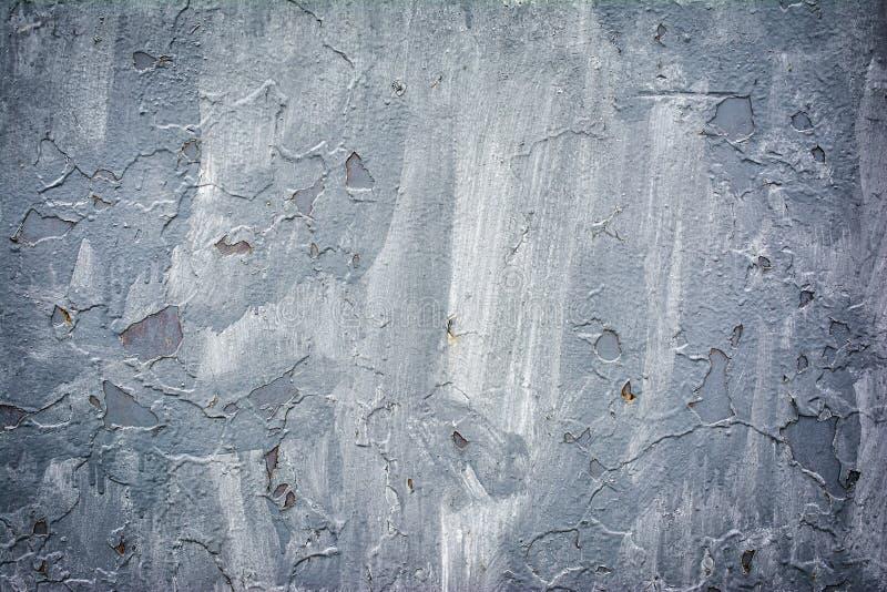 Grunge metalu tekstury tło z szarości farbą fotografia stock