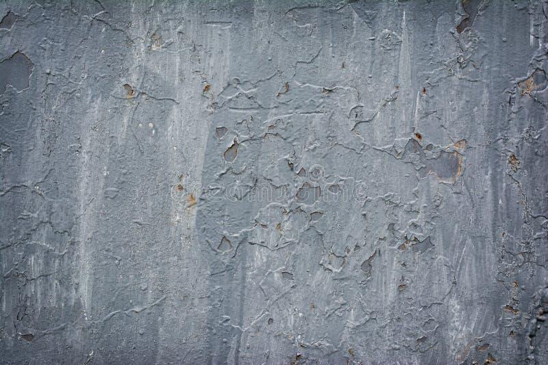 Grunge metalu tekstury tło z szarości farbą obraz royalty free