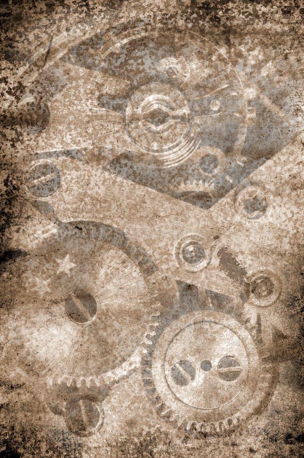 Grunge metalu zegaru tło zdjęcia stock