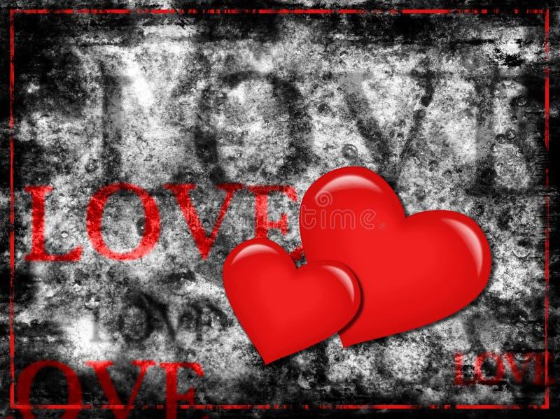grunge miłość ilustracja wektor