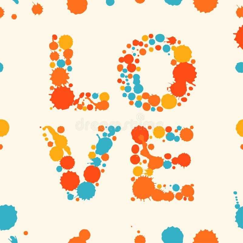 Grunge miłości multicolor sztandar royalty ilustracja