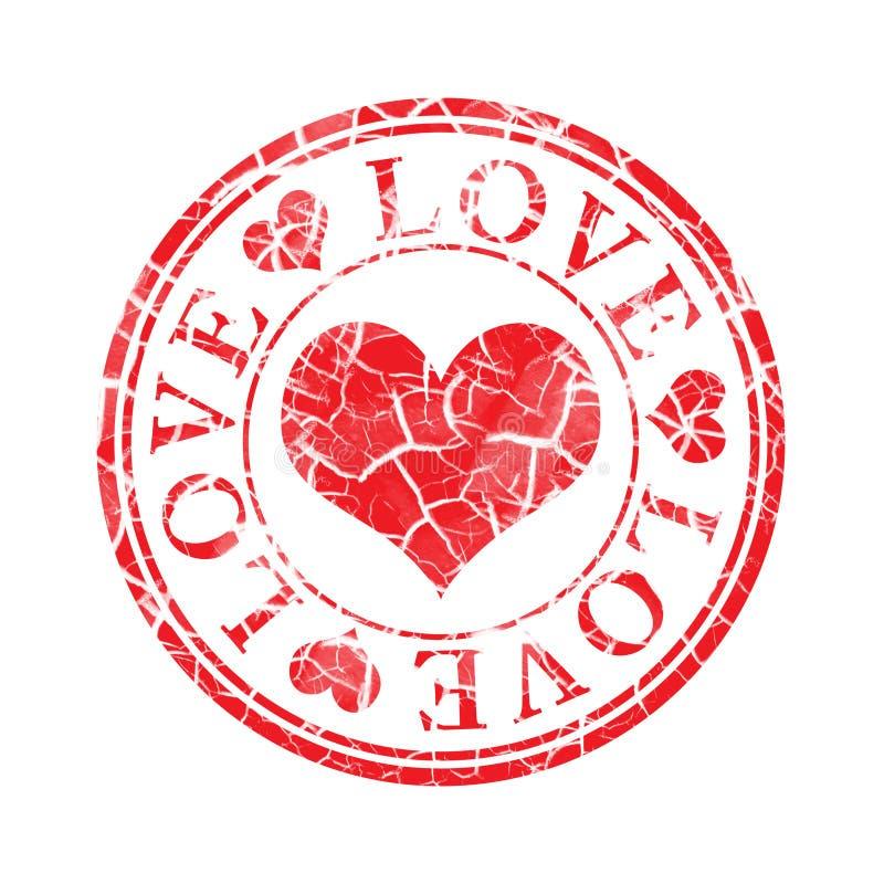 grunge miłości znaczek royalty ilustracja