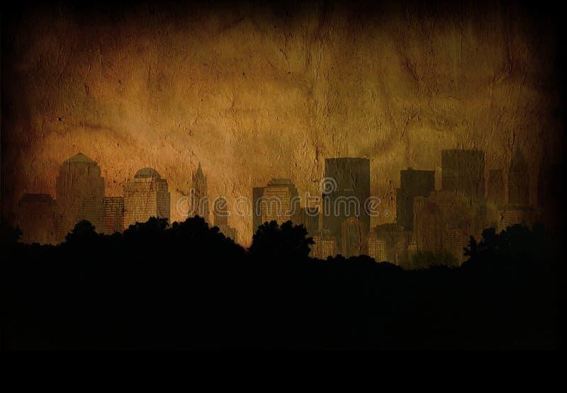 grunge miasta. ilustracji