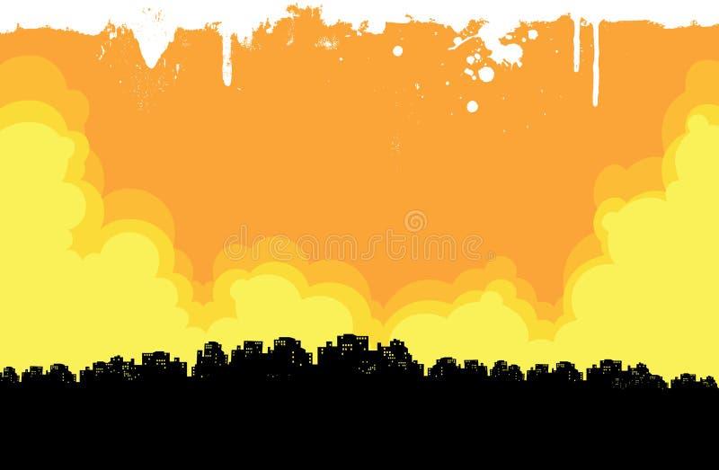 Grunge Miasta Tło ilustracja wektor