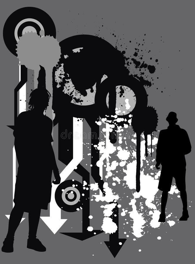 grunge miejskiego bg ilustracja wektor