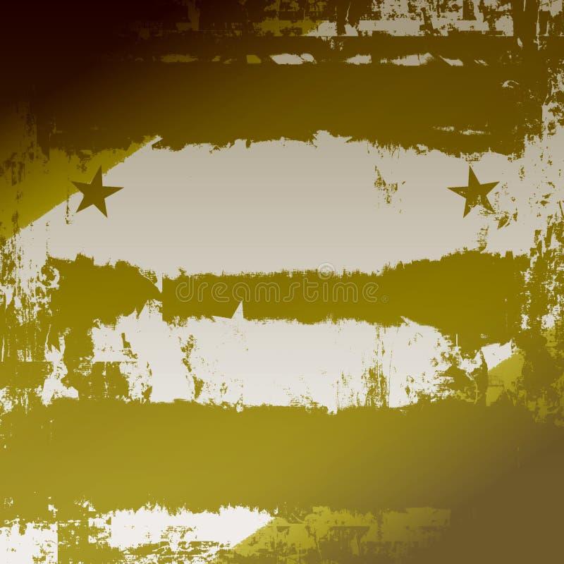Grunge militar ilustração do vetor