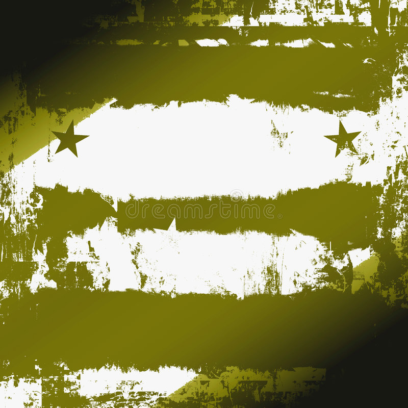 Grunge militar ilustração royalty free