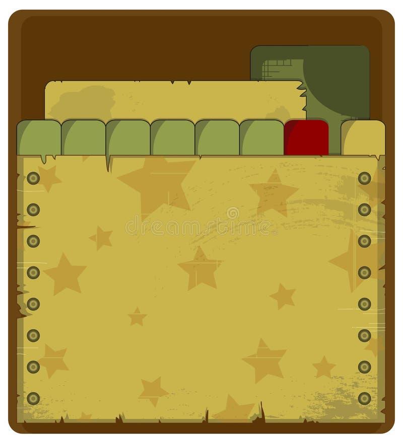 Grunge military background royalty free illustration