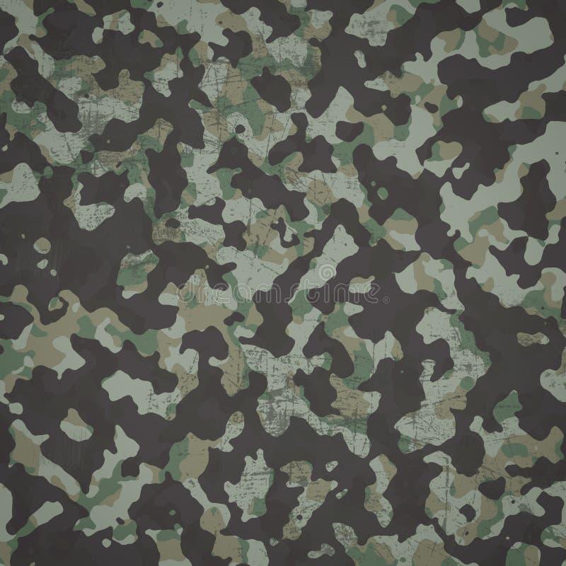 Grunge military camouflage woodland background royalty free illustration