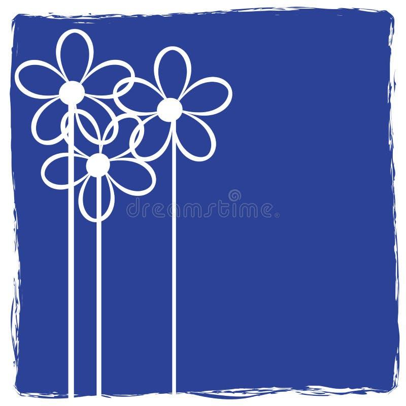 Grunge mit Blumen vektor abbildung