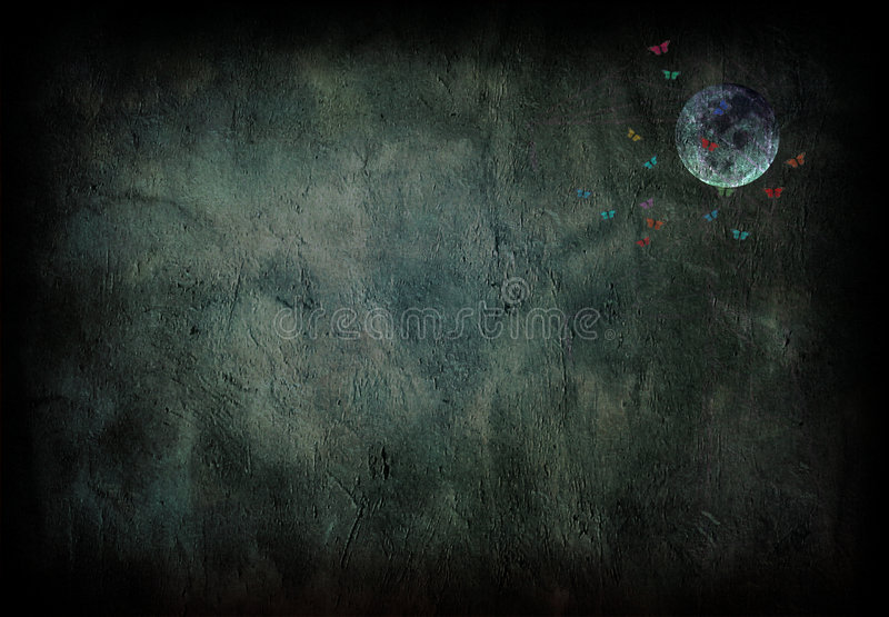 Grunge Mond vektor abbildung