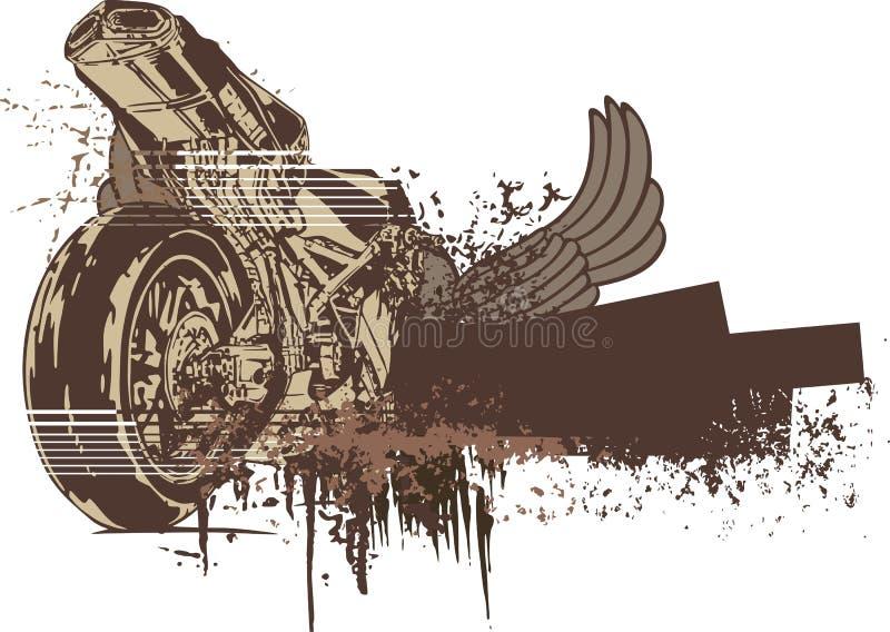 Grunge Motorcycle Background royalty free illustration