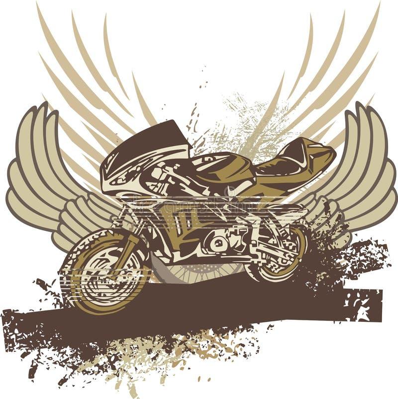 Grunge Motorcycle Background stock illustration