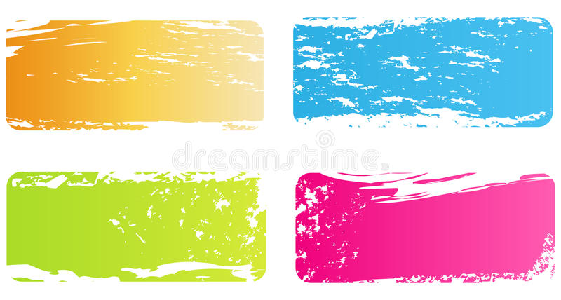 Grunge Multicolored Banners Royalty Free Stock Photography