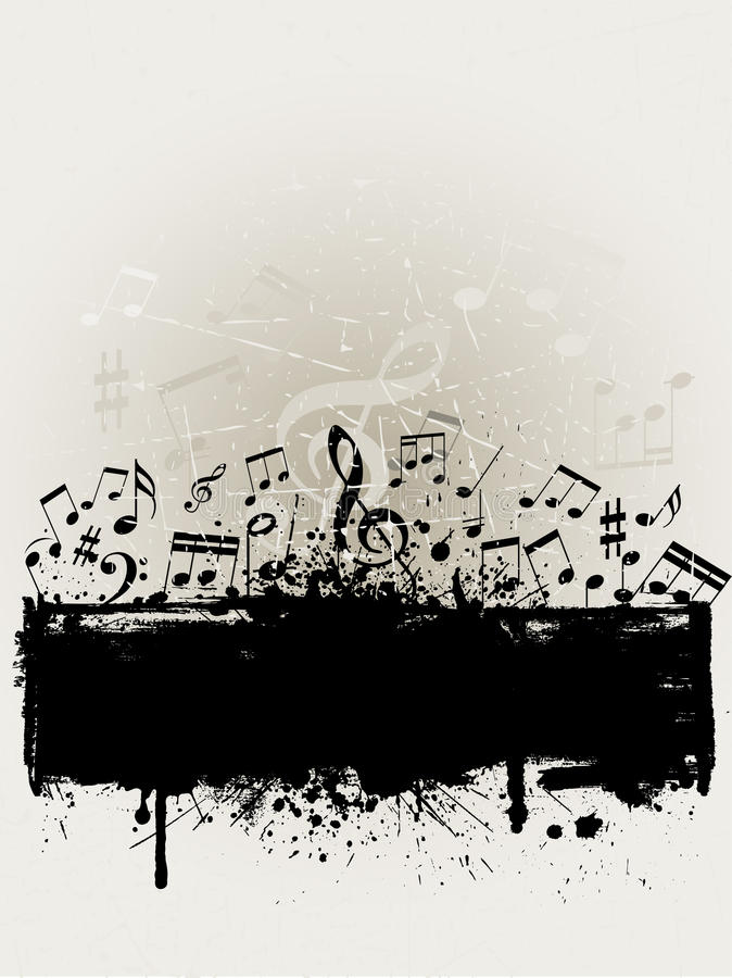 Download Grunge music stock vector. Image of grunge, musical, background - 10021961