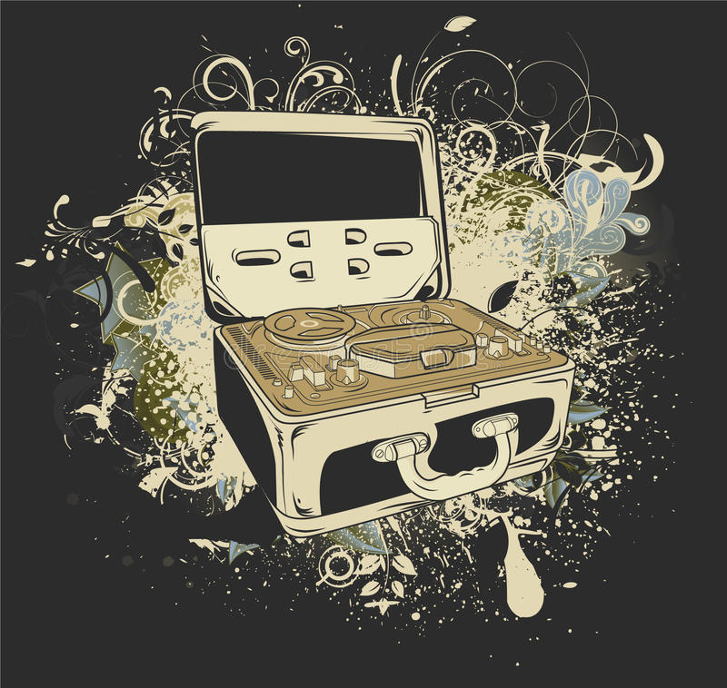 Download Grunge music background stock illustration. Illustration of floral - 25170007