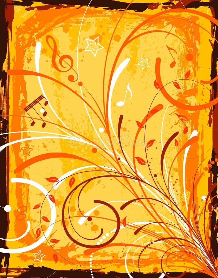 Grunge music frame stock illustration
