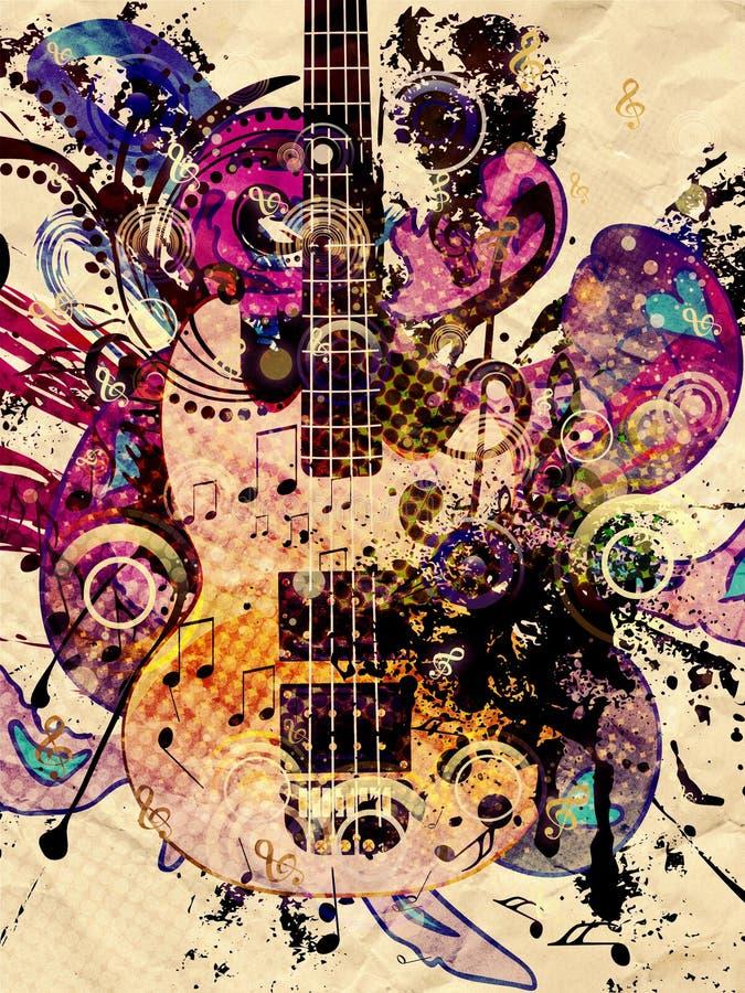 Free Grunge Music Guitar Background Stock Photos - 95126163