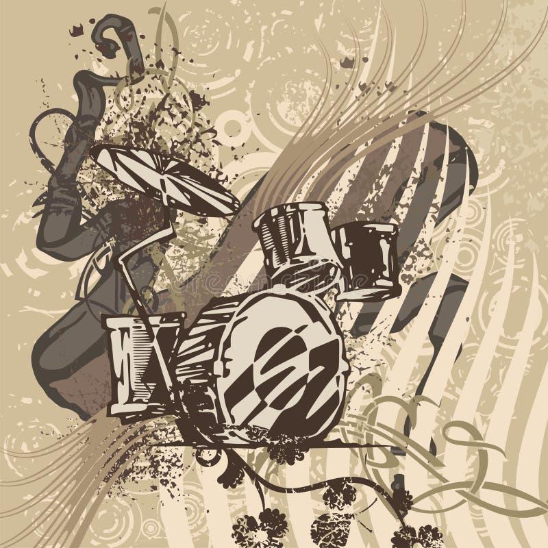 Grunge Music Instrument Background Royalty Free Stock Photo