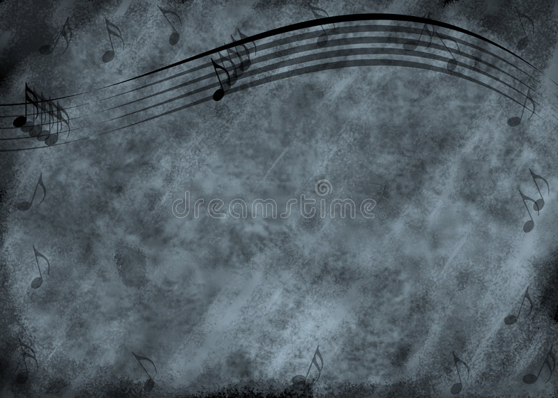 Grunge Music Note Background Stock Images