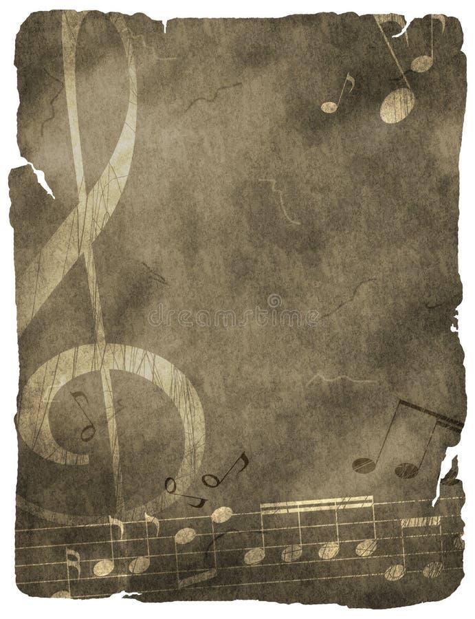 Grunge musical background vector illustration
